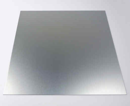 A bright silver sheet of anodized aluminum.